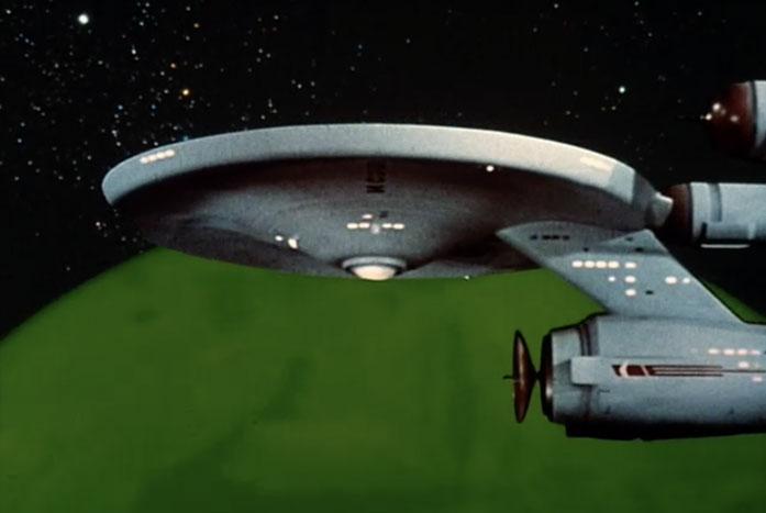 The Enterprise in orbit