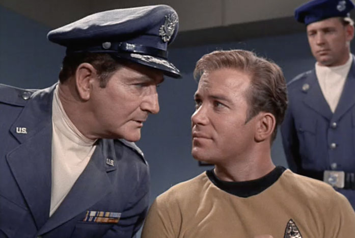 kirk with the air force police