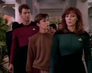 Riker, Wesley and Dr. Crusher