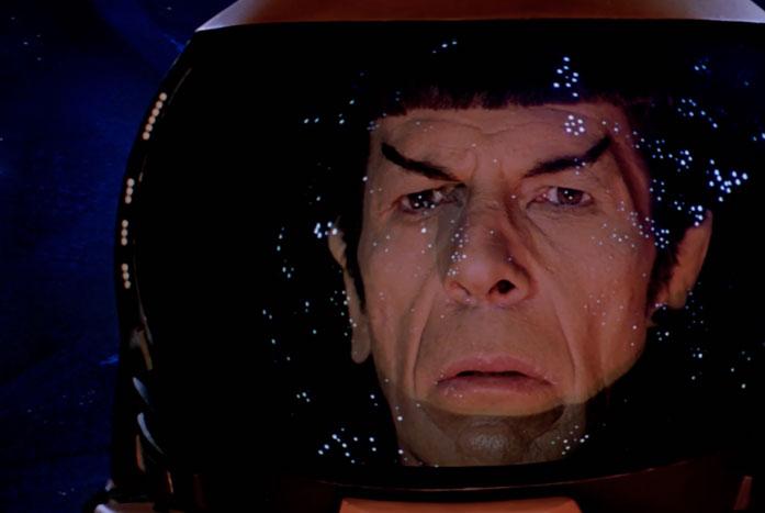 Spock outside the ship