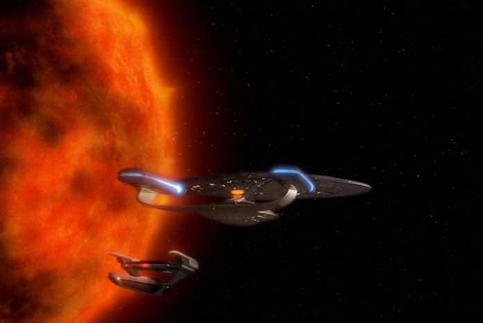 The Enterprise and the S.S. Tsiolkovsky