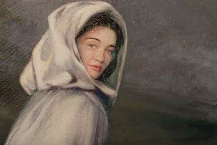 """The painting entitled """"Daughter."""" Courtesy of CBS All Access"""