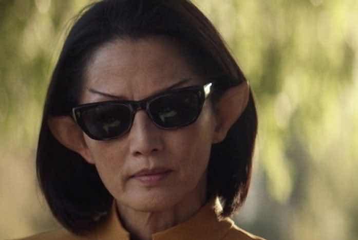 Sunglasses on a Starfleet Officer