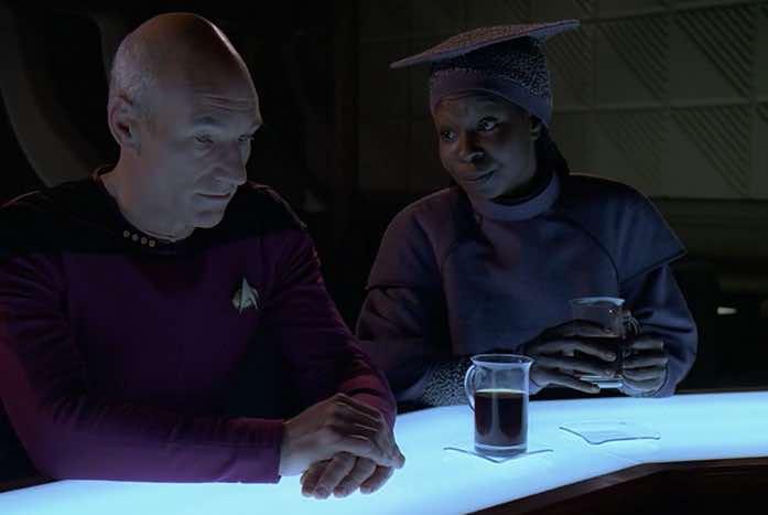 Picard and Guinan