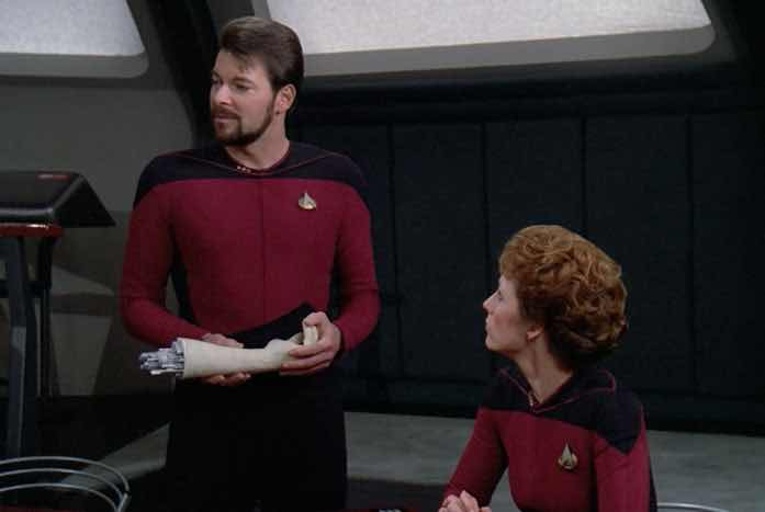 Riker and Data's arm