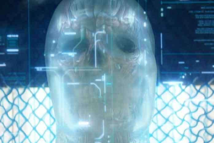 The golum, or empty synth form that is waiting for a new mind. Courtesy of CBS