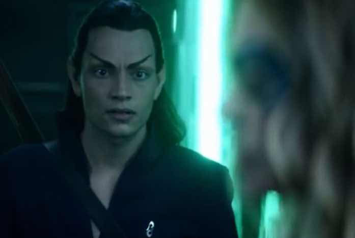 Elnor seemed very concerned while Seven was acting as the Borg Queen and all danger had passed. Courtesy of CBS