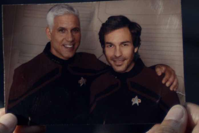 Rios and his old captain. Courtesy of CBS