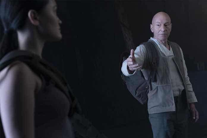 """""""Come with me if you want to live,"""" Picard said to Soji. JUST KIDDING! Courtesy of CBS"""