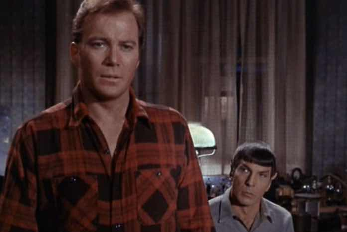 Spock tells Kirk that Keeler was meant to die. Courtesy of CBS / Paramount