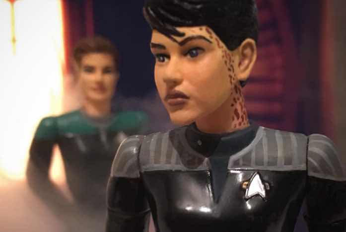 The meeting of Ezri and Jadzia, which could only happen in Mitchell's world.