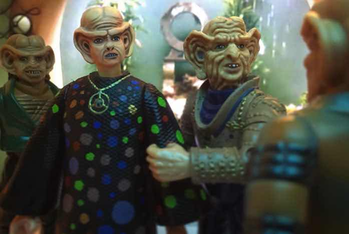 Some of Mitchell's Ferengi lineup. You can almost hear the Grand Nagus whining about costs and profits.