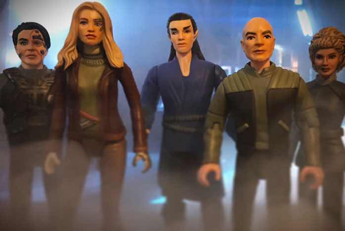 These are among Mitchell's latest additions — some of the characters from Star Trek: Picard.