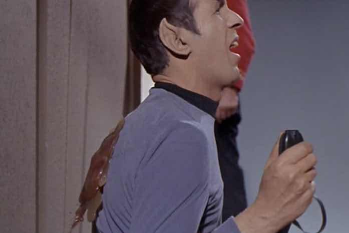 Spock's back