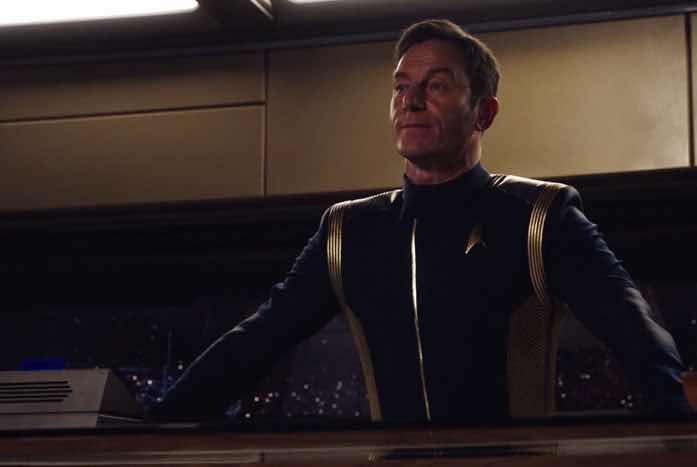 Captain Gabriel Lorca, portrayed by Jason Isaacs. Courtesy of CBS