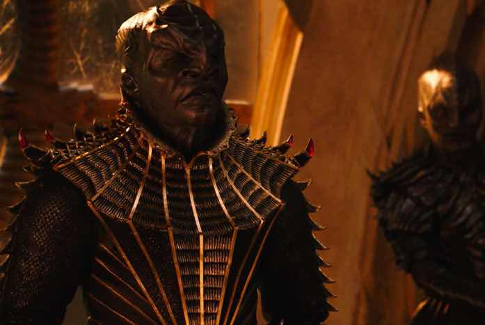 The leader of the new-look Klingons, T'Kuvma, played by Chris Obi. Courtesy of CBS