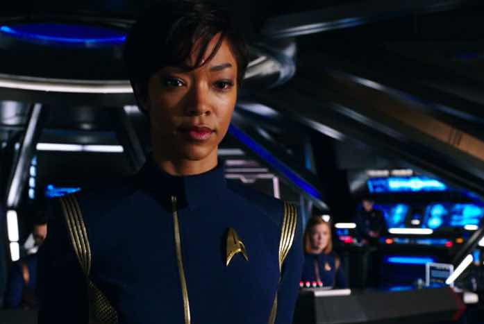 Sonequa Martin-Green as Michael Burnham. Courtesy of CBS