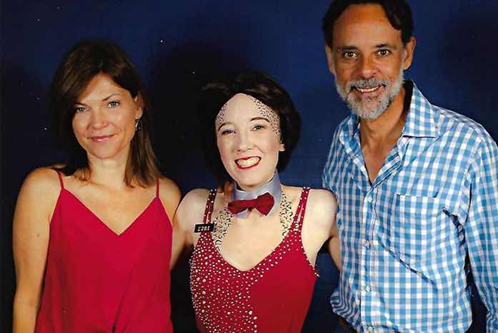 Sally with Nicole de Boer and Alexander Siddig.