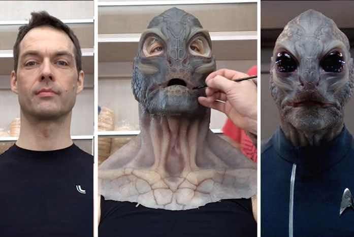 Tomlinson becoming Linus. Image courtesy of StarTrek.com