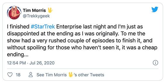 """Comments from """"Trekkie Geek"""""""