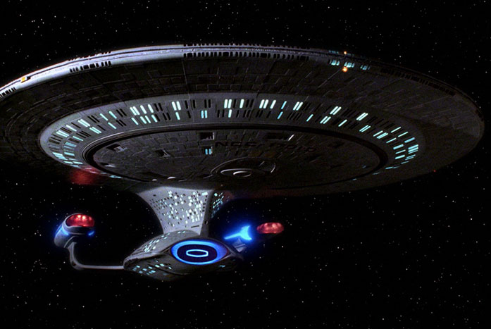 Andrew Probert's masterpiece — The U.S.S. Enterprise-D. Courtesy of CBS / Paramount