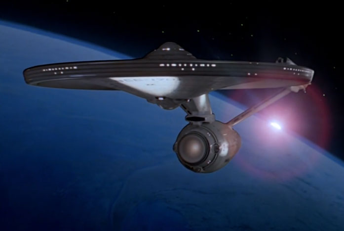 Probert and Taylor's Enterprise, as seen in The Motion Picture. Courtesy of Paramount