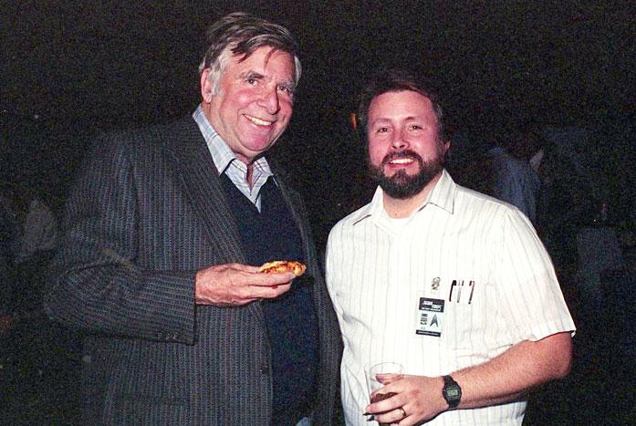 The creator of Star Trek, Gene Roddenberry, with Probert in 1987. Courtesy of Andrew Probert