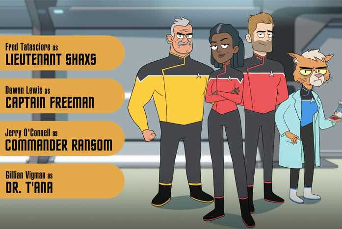 The bridge crew of the Cerritos. Courtesy of CBS