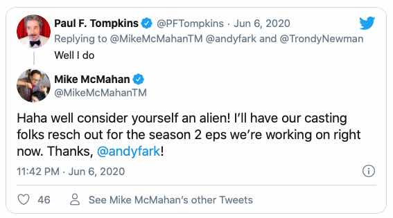 A tweet by MikeMcMahan