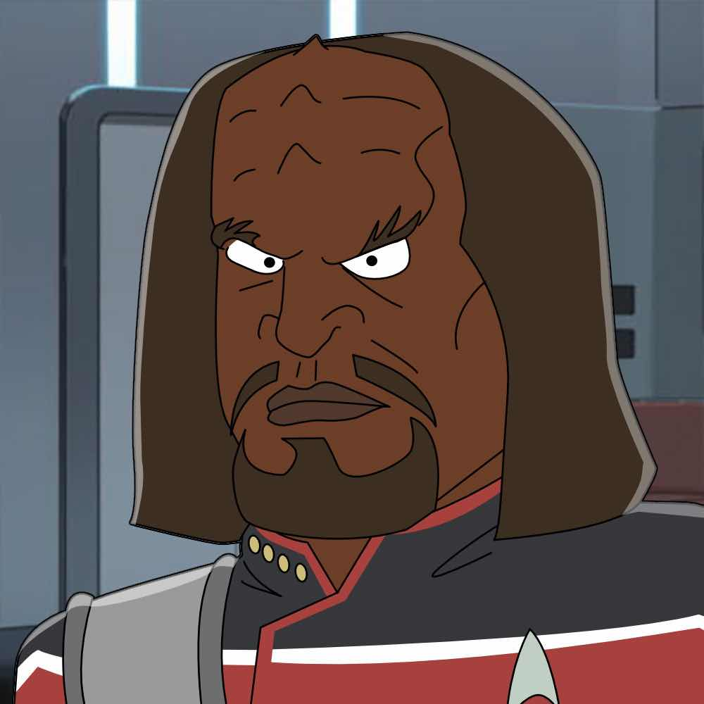 Worf on Lower Decks