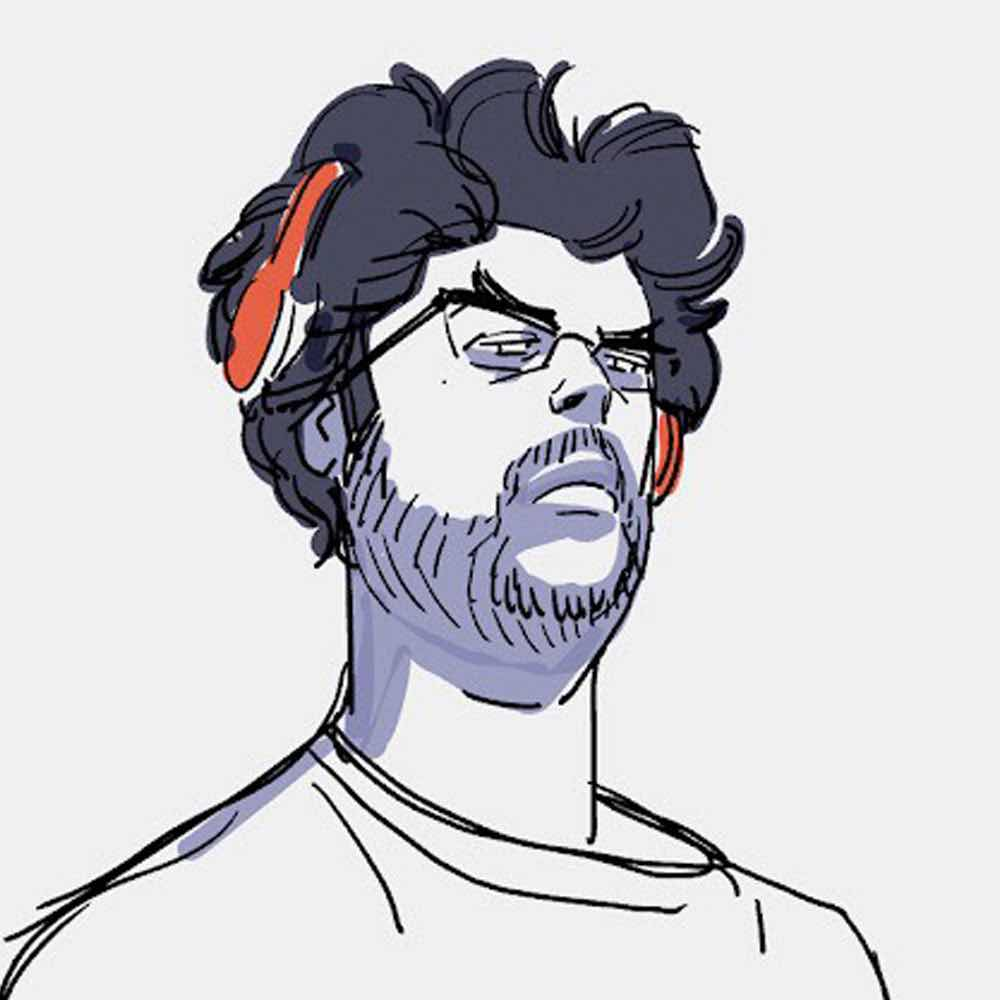 Barry Kelly, as drawn by Juno Lee