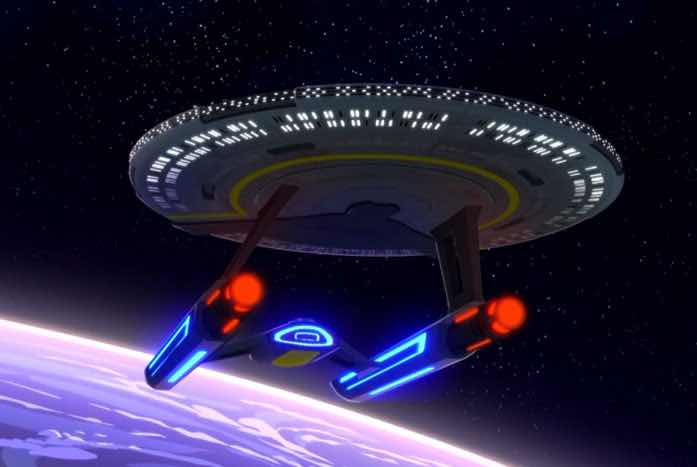 Kelly spent a lot of time making sure the Cerritos was not just a cartoon version of a Trek ship. Courtesy of CBS