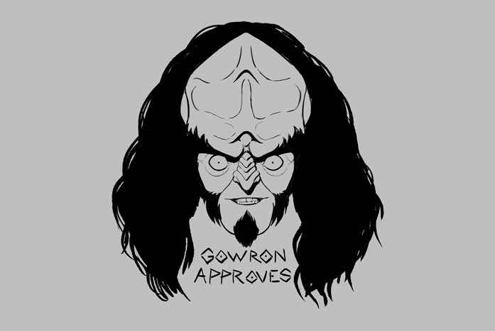 Gowron, as drawn by Barry Kelly.