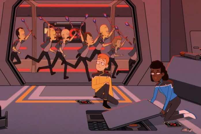 The chaos aboard the U.S.S. Cerritos. Courtesy of CBS