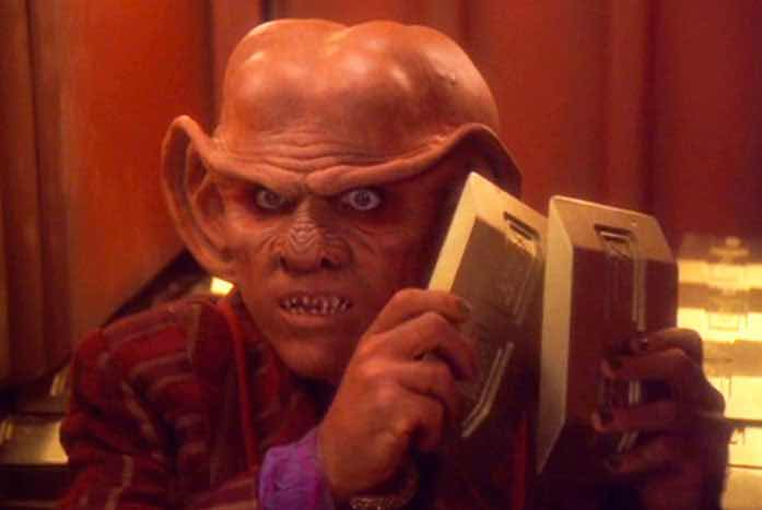Fan know Shimerman bets for his iconic role of Quark on Deep Space Nine. Courtesy of CBS