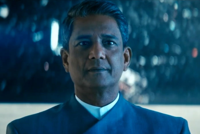 Aditya Sahil, a Federation liaison, played by Adil Hussain. Courtesy of CBS