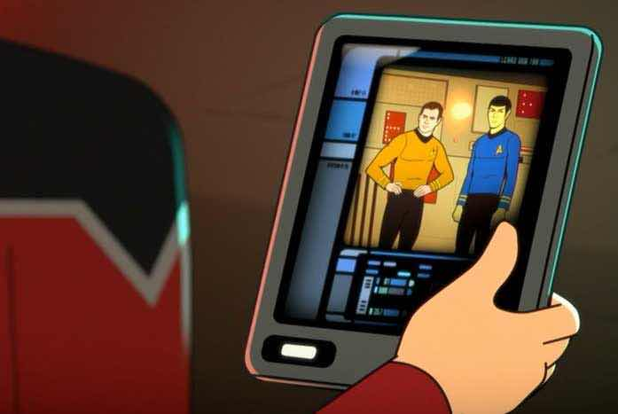 The most amazing cameo thus far — Kirk and Spock. Courtesy of CBS