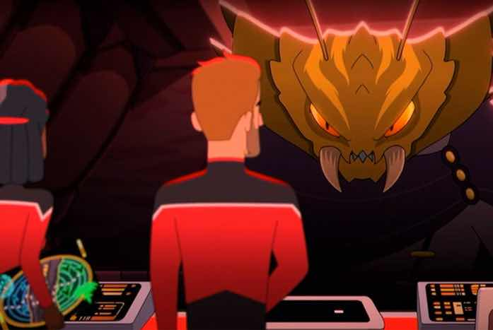 The Clicket captain, voiced by Kenneth Mitchell. Courtesy of CBS