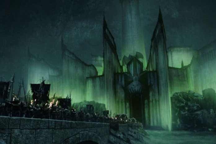 Minas Morgul as seen in Lord of the Rings: The Two Towers. Courtesy of Warner Brothers
