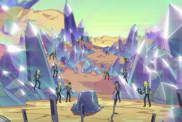 """The surface of the planet Galrak, as seen in Episode 3, """"Temporal Edict."""" Courtesy of CBS"""