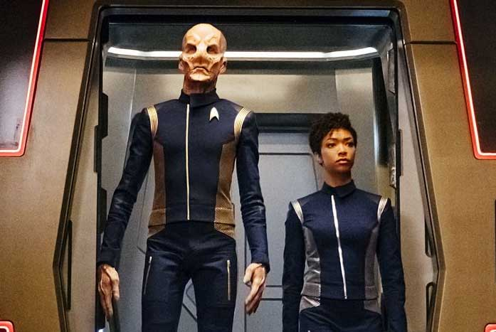 Saru with Michael during Season One of Star Trek: Discovery. Courtesy of CBS