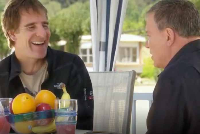 "Scott Bakula and Shatner meet for the first time on ""The Captains."" Courtesy of 455 Films"