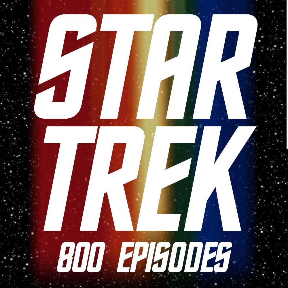 800 episodes of Star Trek