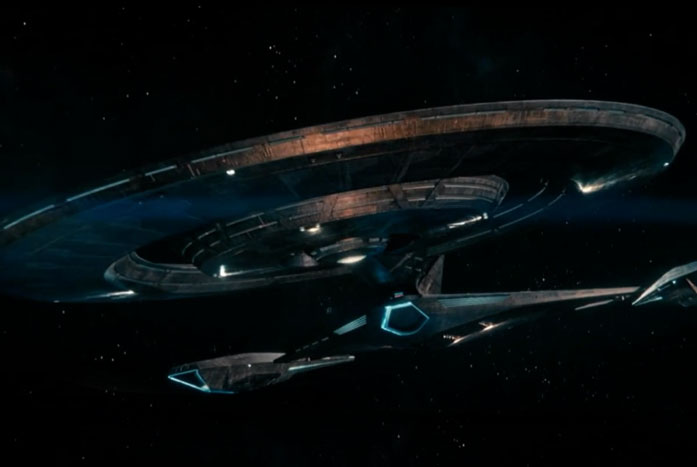 A beauty shot of the refit U.S.S. Discovery-A. Courtesy of CBS