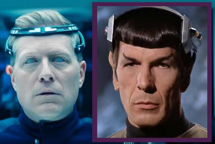 Stamets and Spock… both under mind control of some kind. Courtesy of CBS/Paramount