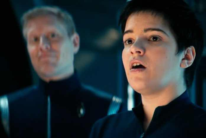 Stamets gets to make his dad face with young Adira. Courtesy of CBS