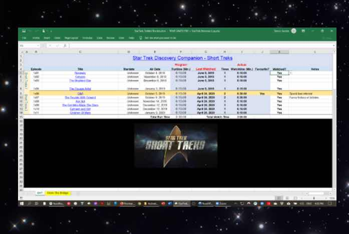 The Trekkie Tracker allows users to input the shows that they've watched and rank it as well. Plot notes there too. Courtesy of Simon Jacobs