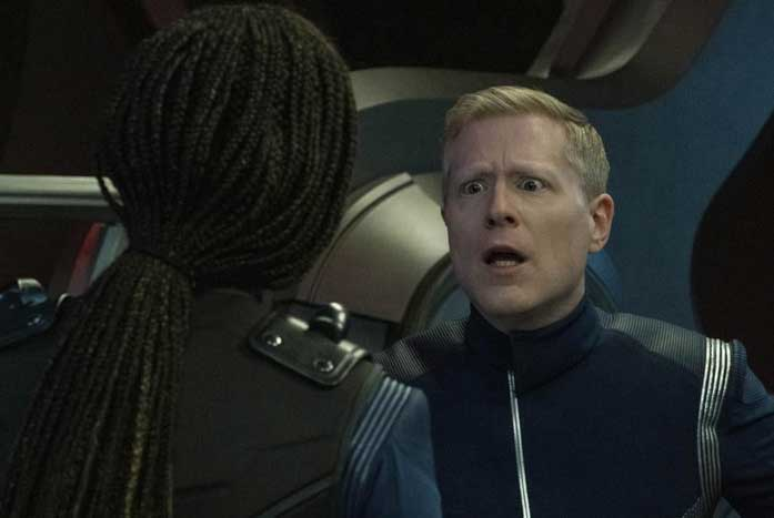 """""""My whole life is in that nebula!"""" Stamets yelled to Michael. Courtesy of CBS"""