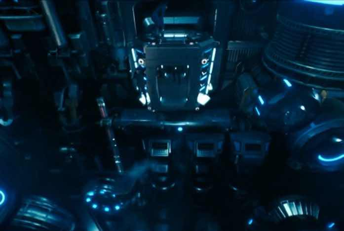 The inside of a turbolift shaft aboard the U.S.S. Discovery. An enormous space. Courtesy of CBS