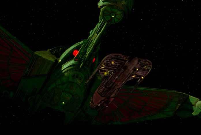 The Bird of Prey and the Merchant Man ship. Courtesy of Paramount